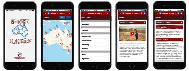 iOS app Welcome to Country offers location-specific information about local Australian groups and their languages and culture.