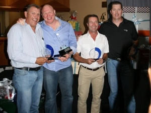 The winning fourball was from three6five: From Left to Right: Gys Geyer, Tyrone Carroll, Simon Shaw, Anton de Beer