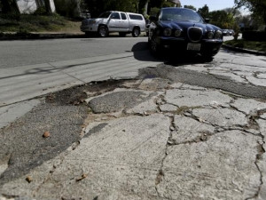 Potholes are a common sight in SA as well as the US.