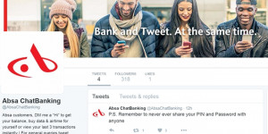 Absa customers will now be able to use their Twitter account to check their account balance, buy airtime and obtain a mini-statement.