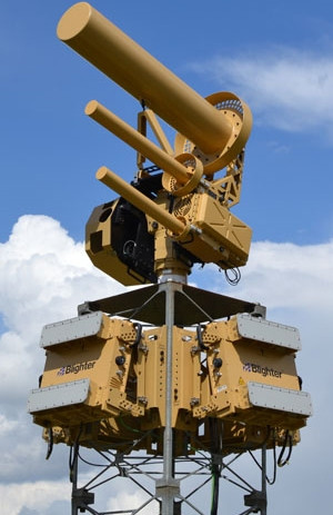 The Anti-UAV Defense System uses directional antennas to fire high-powered radio signal at unauthorised drones, rendering them unresponsive to malicious or irresponsible users.