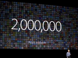 Apple CEO Tim Cook speaks about apps at the company's Worldwide Developers Conference.
