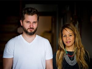 SweepSouth co-founders Alen Ribic and Aisha-Pandor.