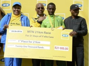 It feels great to have contributed to the upliftment of education, says MTN half-marathon winner, David Manja