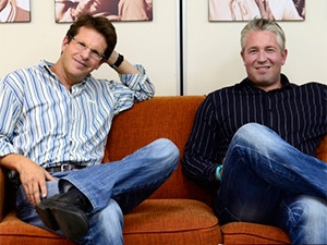Garth Japhet (left) and Andy Hadfield, Forgood.