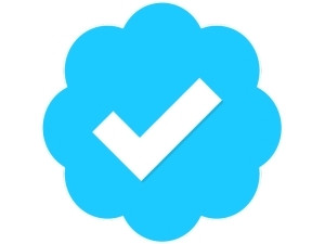 The blue tick appears on verified Twitter accounts to show their legitimacy.