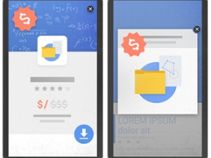 Google says mobile adverts that are not used responsibly and cover a large portion of content will be penalised from next year.