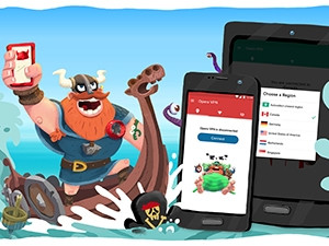 Opera's VPN app for Android allows users to enhance their online privacy, test WiFi security and block ad-tracking cookies.