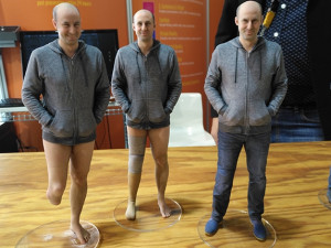 These 3D printed figurines are the product of 3D full body scanner, Botspot. The scanner is based on photogrammetry, not lasers. The machine can scan anything - a person, animal or device - and print a 3D model within 24 hours.