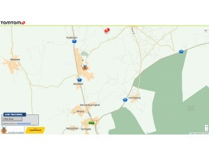 TomTom Maps' tracking website.