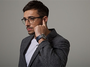 The smartwatch accessory lets users take calls simply by placing their fingertip to their ear.
