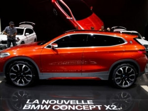The new BMW X2 concept car was displayed at the Paris auto show.