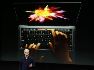 Apple CEO Tim Cook introduced the new MacBook Pro.