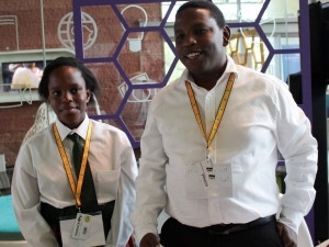 Grade seven learner Naledi Phafane, seen here with her father and teammate Pule Phafane, was the youngest developer who participated in the inaugural TADHack South Africa developer challenge.