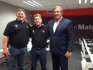 Rudolf Straeuli, CEO of the Lions Rugby Company (Pty) Ltd, Johan Klein from Altron with Kevin de Klerk, the Golden Lions Rugby Union President.