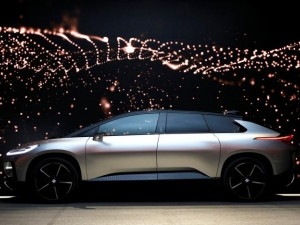 The FF 91 is a futuristic SUV with no door handles and comes with a package of sensors, including cameras, radar and lidar, to enable self-driving capability at a future date.
