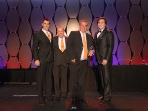 From left: Sheldon Halgreen, Solutions Director of Noscotek; Ricky Pilz, Sales Director of Noscotek; Ben Sheppard, MD of Noscotek and Peter Wayman, Laserfiche VP of Asset Management & Professional Services.