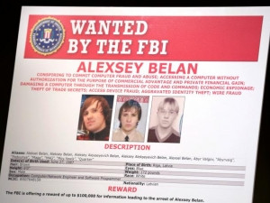 An FBI poster of suspected Russian hackers.