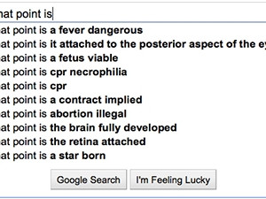 """Google autocomplete for """"at what point is..."""" via Flickr."""
