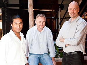 The team leading Startupbootcamp Cape Town includes Zachariah George, Paul Nel and Philip Kiracofe.