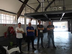 Alastair Waldeck, Manuel Corregedor, Ivan Regasek and Grant Thompson.