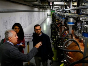 People visit the new linear accelerator Linac 4.