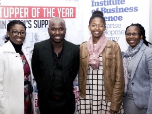 Tshilidzi Ramuedzisi, Total SA's innovation and corporate affairs manager, Themba Sehawu, Bathabile Mpofu and Michelle Charlie of Total.