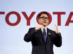 Toyota president Akio Toyoda.