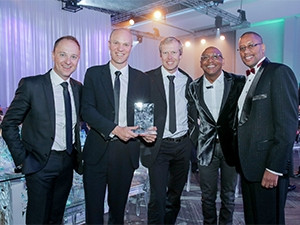 Winners and judges of the FNB business innovation awards.