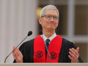 Apple CEO Tim Cook addresses MIT graduates.