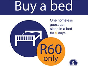 Haven Shelters lets people sponsor a homeless person's bed.