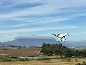 One of the drones used at Elsenburg farm.