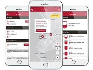 The WP Blood app aims to aid with mobilising more donors.