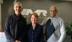 From left: Colin van der Ross, Senior Systems Engineer, SDS; Susan van Zyl, Head of Sales and Marketing, JMR Software; Jerome Benting, Account Executive, JMR Software.