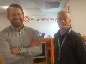 Paul Hall, Operations Director, Aspire Money, and Giovanni Venturella, Executive Head of Sales, SafriCloud.