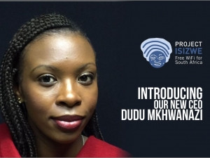 New Project Isizwe CEO Dudu Mkhwanazi.