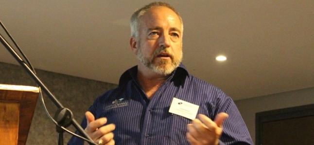 Denis Bensch CIO of FlowCentric Technologies concluding the event.