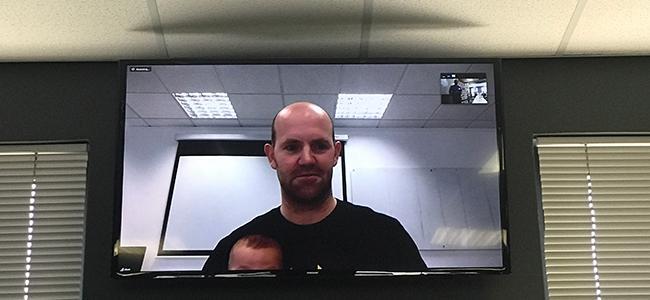 Raspberry Pi founder Eben Upton via Skype.