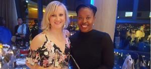Paula Gilbert, ITWeb's telecoms editor, and Simnikiwe Mzekandaba, IT in government editor.