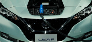 Nissan's new Leaf electric vehicle.
