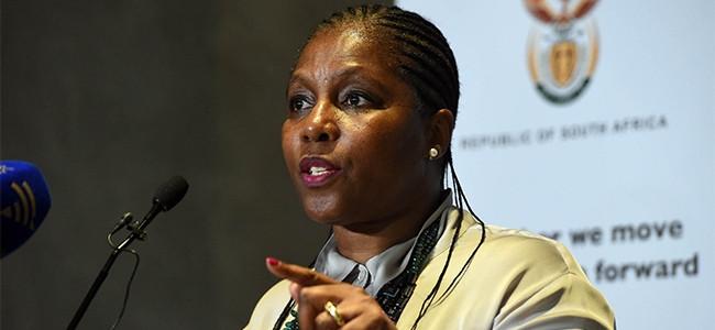 Communications minister Ayanda Dlodlo.