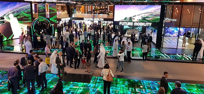 There were 4 473 exhibition stands at GITEX, all competing to put on the biggest show to attract the most visitors.
