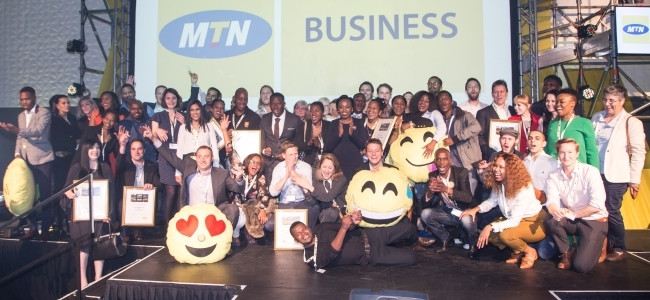 The winners of the MTN Business App of the Year Awards.