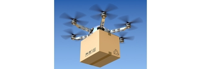 Drone deliveries are predicted to become common in the future.