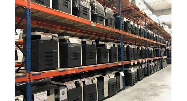 Refurbished Konica Minolta Bizhub copiers at our warehouse.