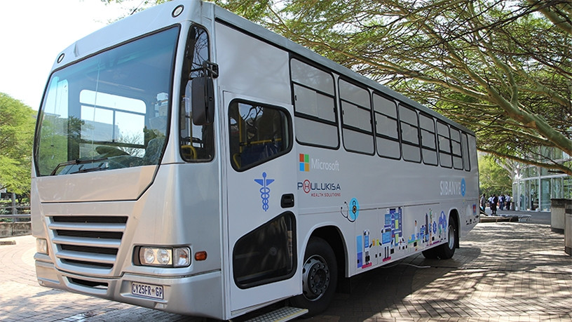 The mobile medical solution bus: the brainchild of urologist Dr Raymond Campbell.