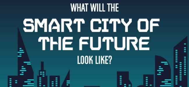 An interactive infographic shows what is predicted to happen in smart cities around the world up until 2060.
