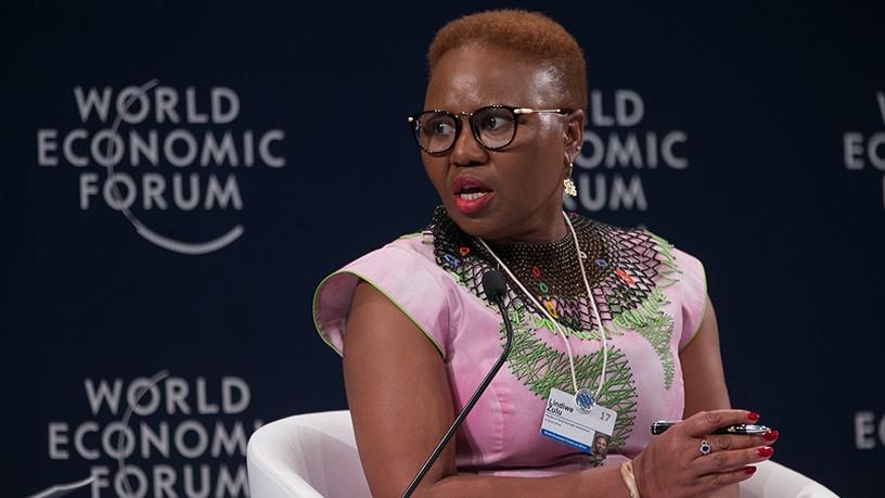 Small business development minister Lindiwe Zulu. (Photo source: WEF)