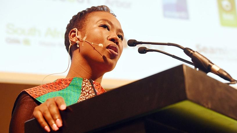 Telecoms and postal services deputy minister Stella Ndabeni-Abrahams. Photo source: GCIS