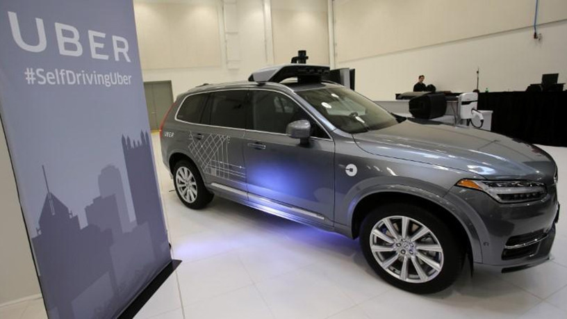 Uber's Volvo XC90 self-driving car.